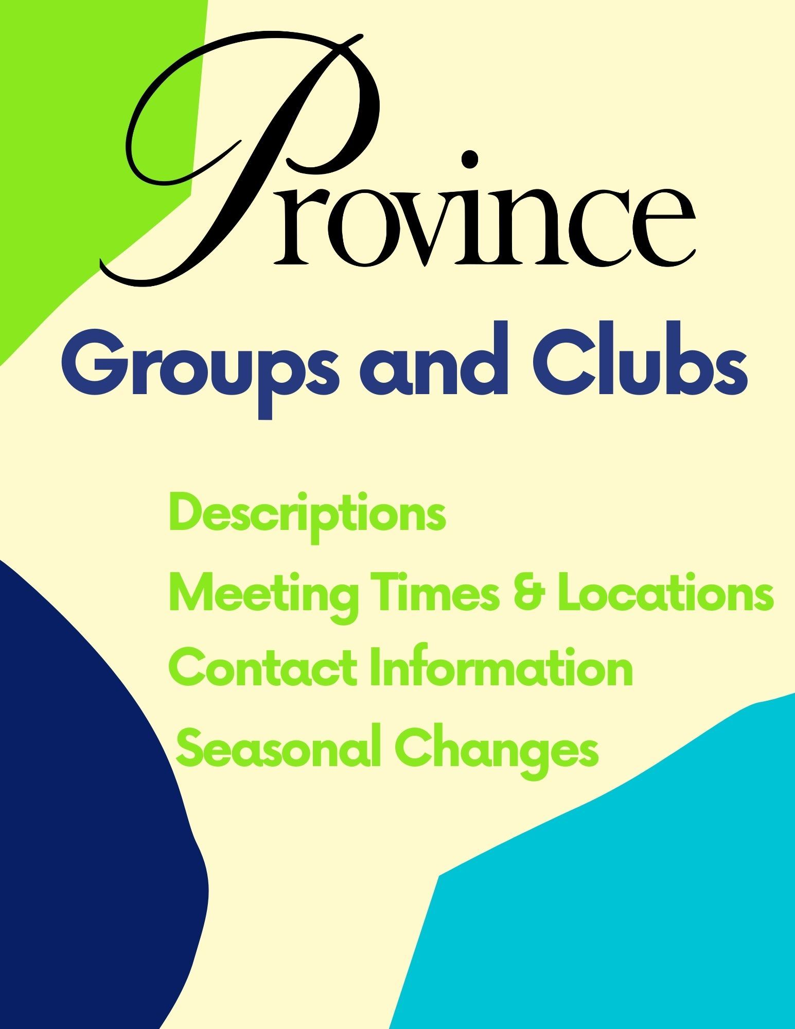 Groups and Clubs